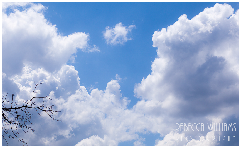 Summer Blue Sky with Clouds